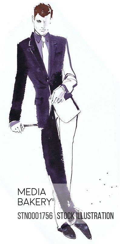 Portrait of man in full suit