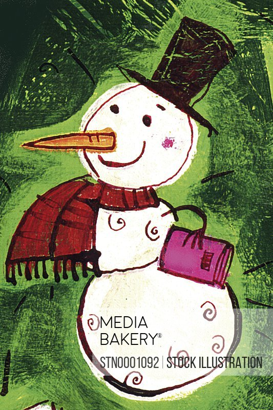 View of smiling snowman