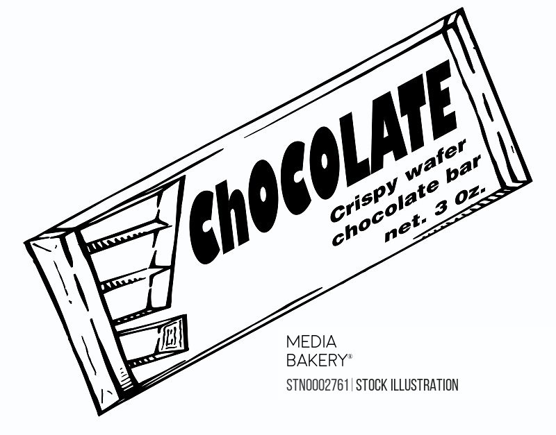 Chocolate bar on white
