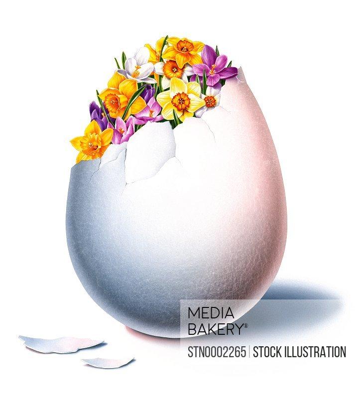 Flowers in egg