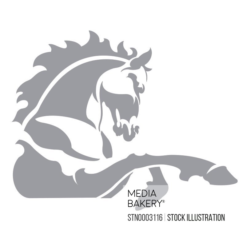 Horse icon on white background