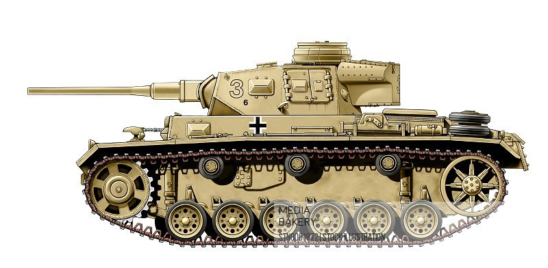 Side view of beige tank, white background