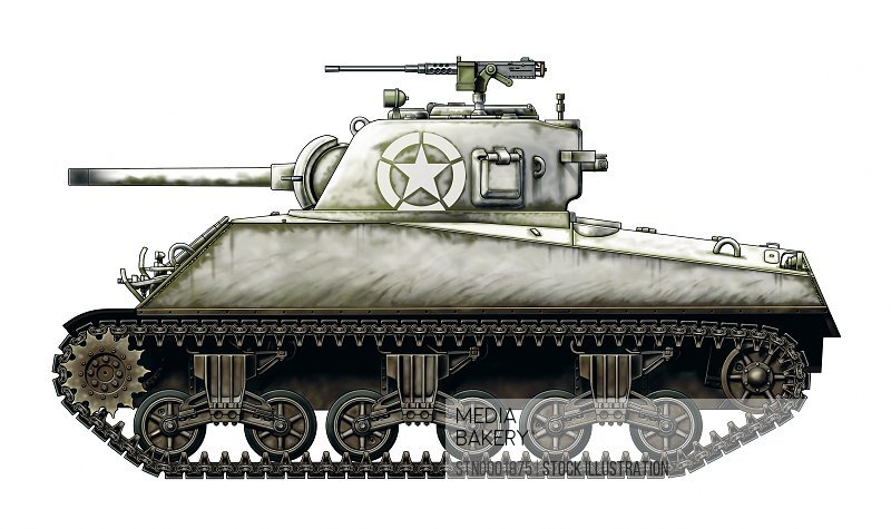 Side view of grey tank, white background