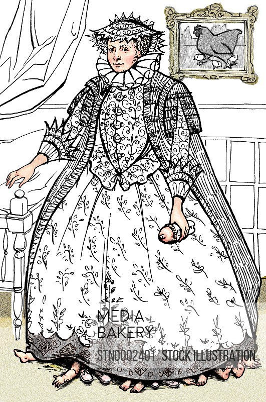 Woman wearing historic dress