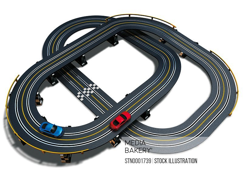 Toy racing track