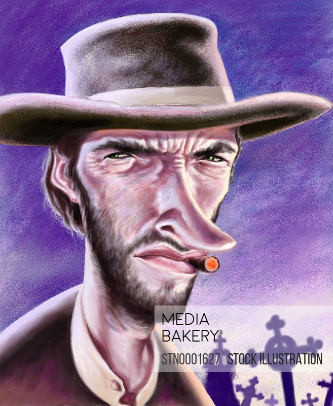 Caricature of cowboy