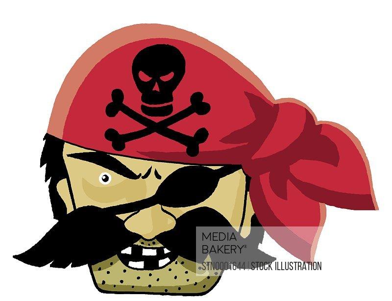 Portrait of pirate