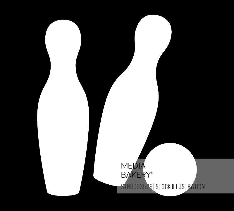 Ball hitting bowling pins
