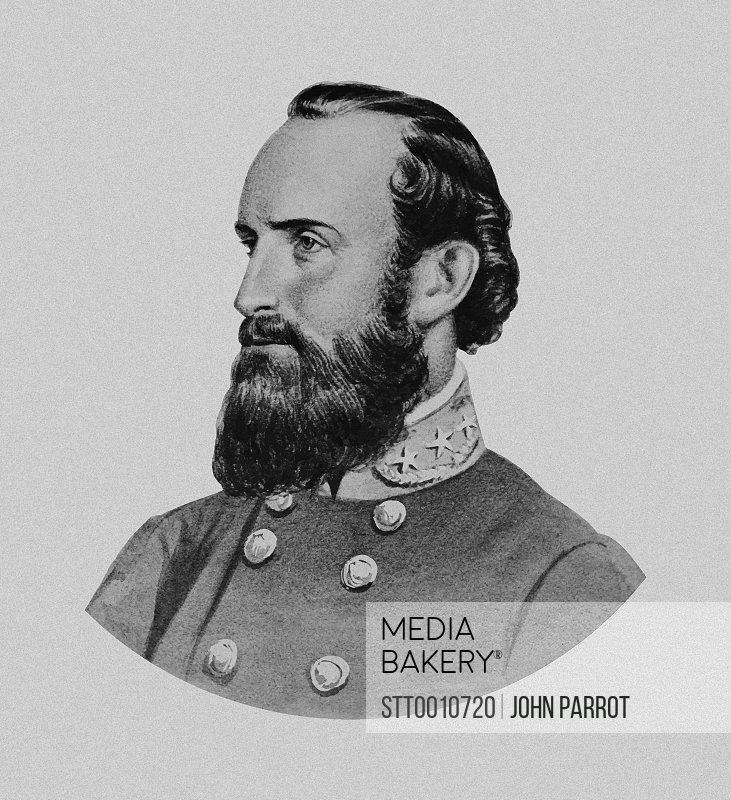 Vector portrait of General Thomas Stonewall Jackson.