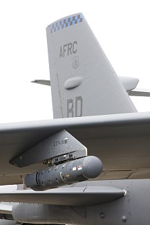 Photo by StockTrek Images - AN/AAQ-28(V) LITENING targeting pod on a B-52H