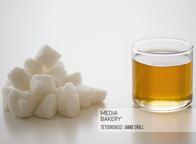 Agave syrup and white sugar