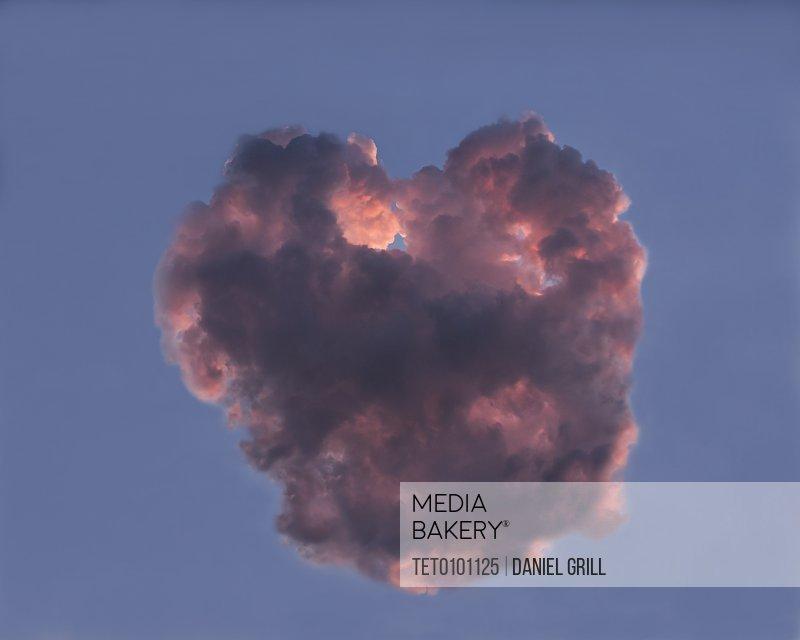 Cloud in shape of heart