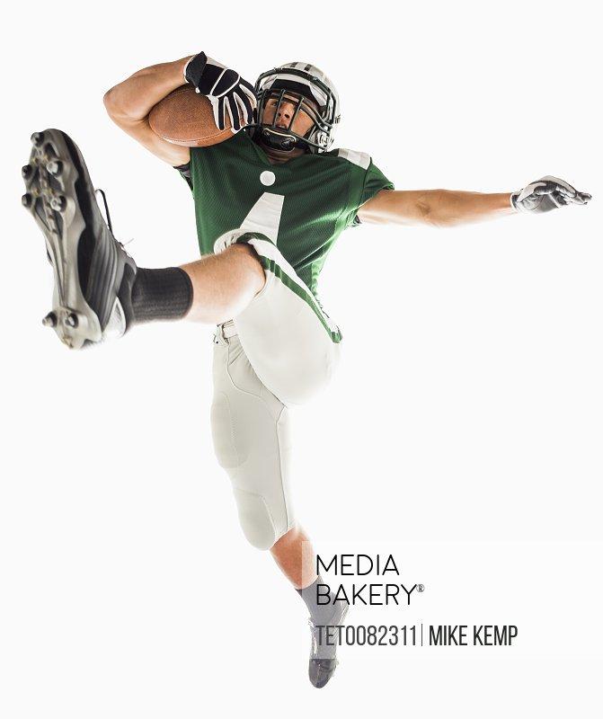 Portrait of American football player