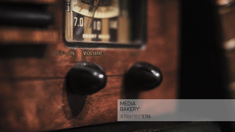 Detail of antique radio