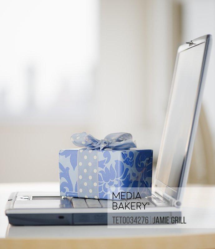 Gift on laptop