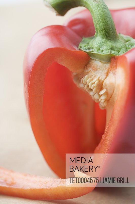 Still life of a red pepper