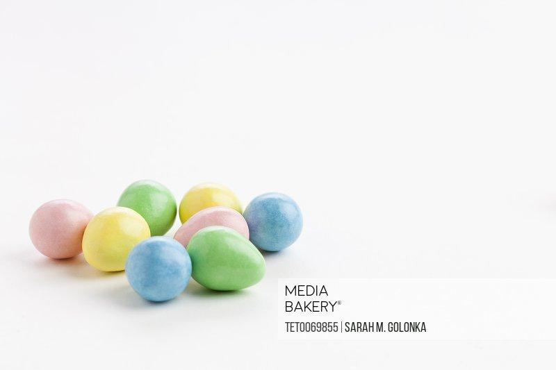Studio shot of colorful eggs