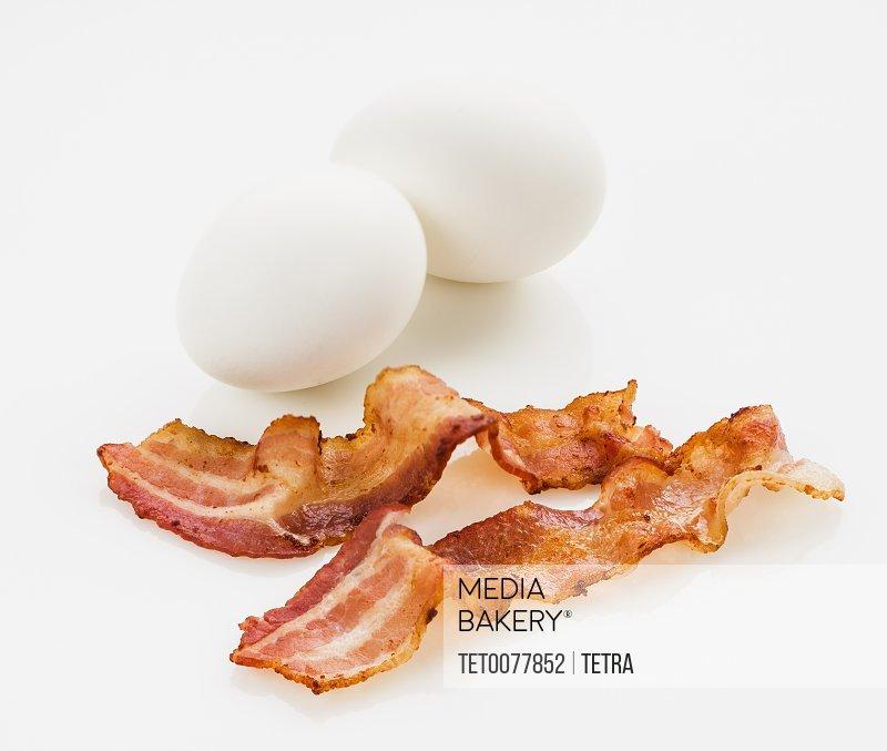 Fried bacon eggs