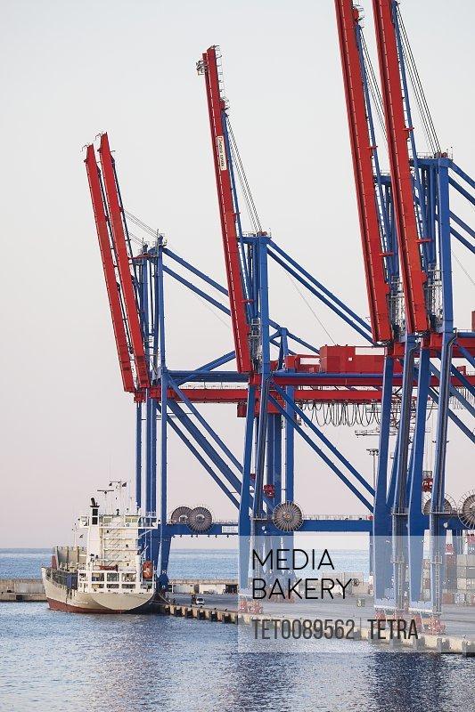 Malaga Cargo container in harbor