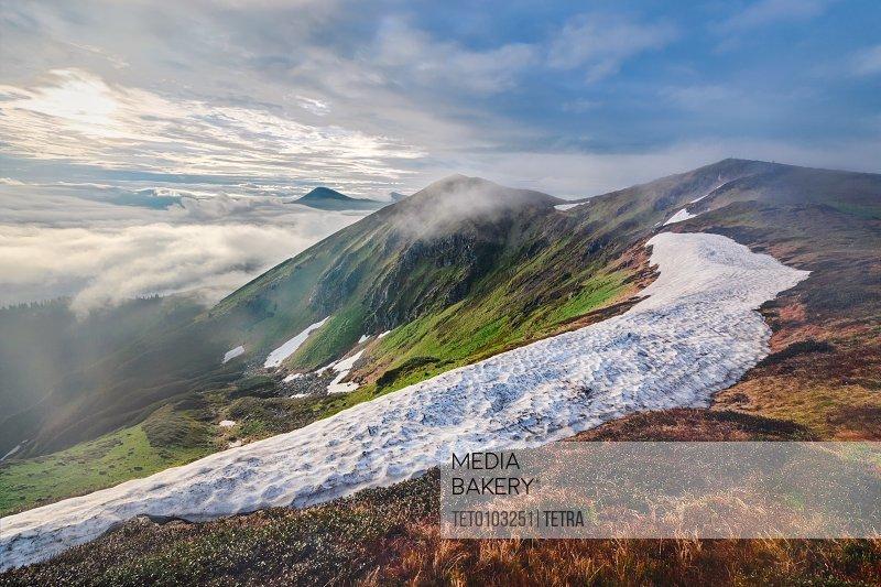 Ukraine Zakarpattia Rakhiv district Carpathians Maramures Mountain landscape