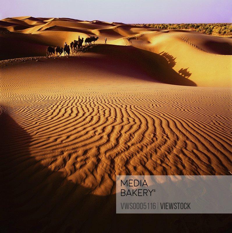 Desert in Xinjiang province China