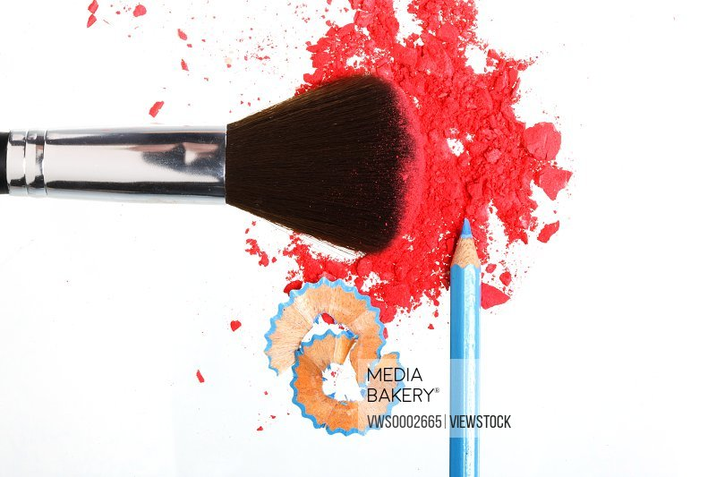 Powder foundation and makeup brush