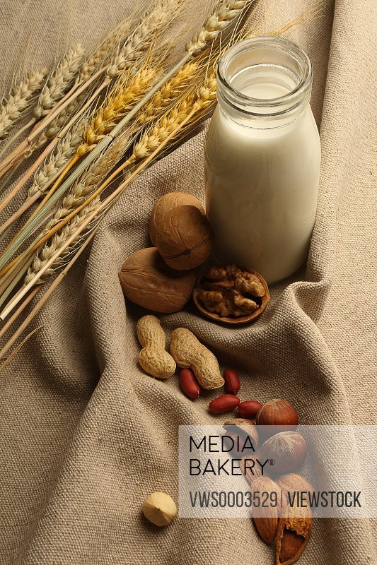 Milk,wheats,and nuts
