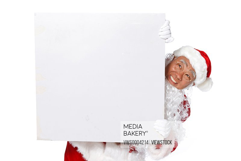 Santa Claus with a whiteboard