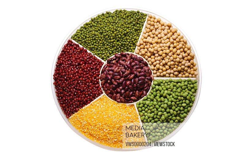 Red bean,mung bean,kidney bean and soybean