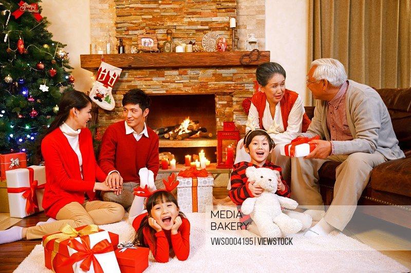 Oriental Family Christmas