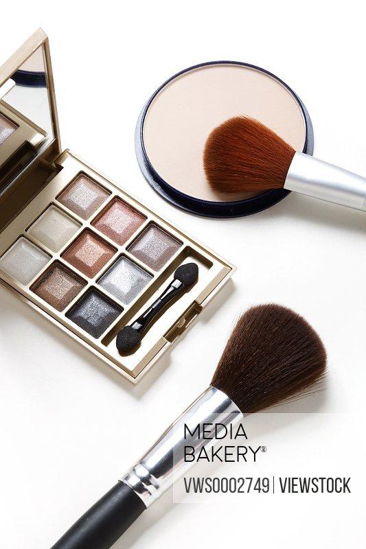 Powder foundation and makeup brush