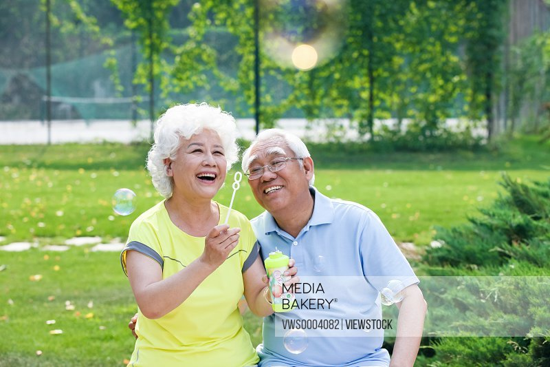 Happiness old couple