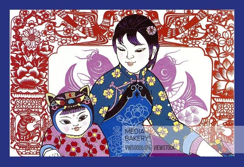 Paper cut New Year Paintings China