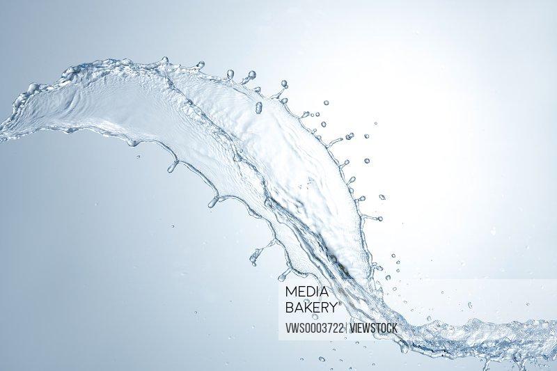 Splashed water