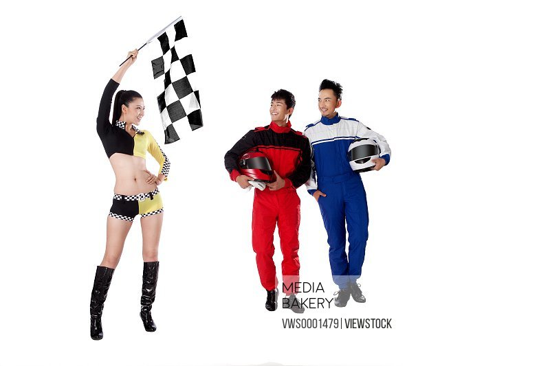 Young race car driver