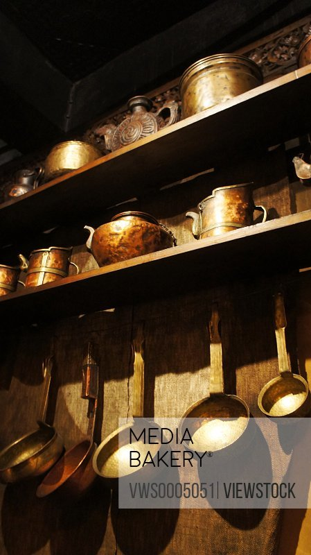 Tableware on the wall