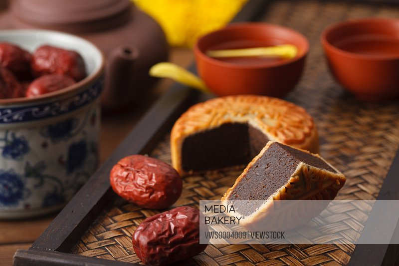 Moon cake and dates