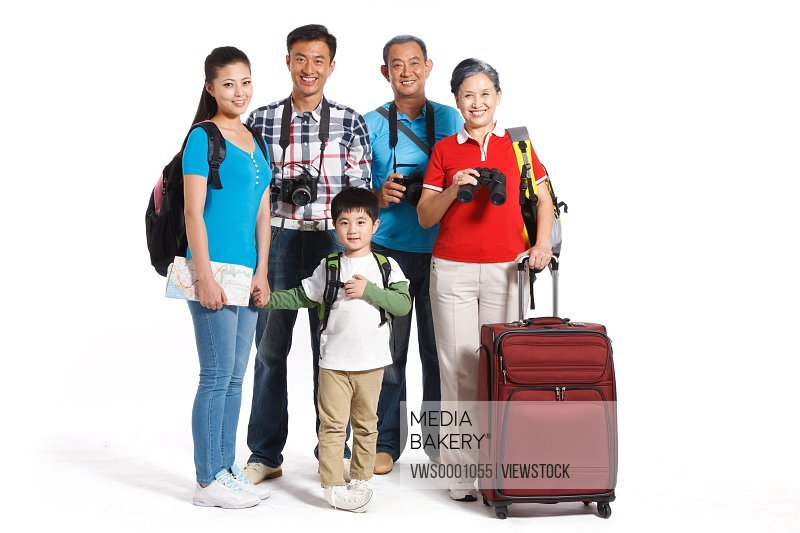 Whole family travelling