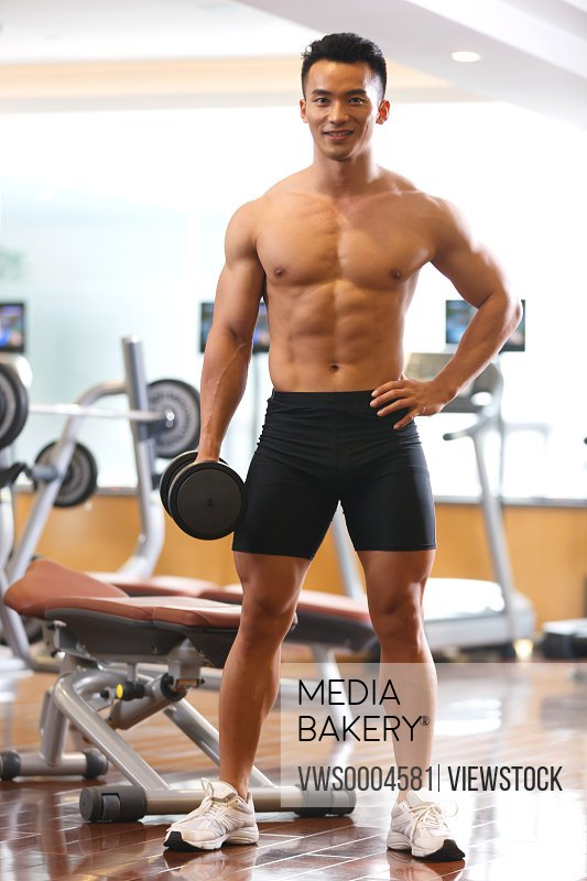 Young man in fitness