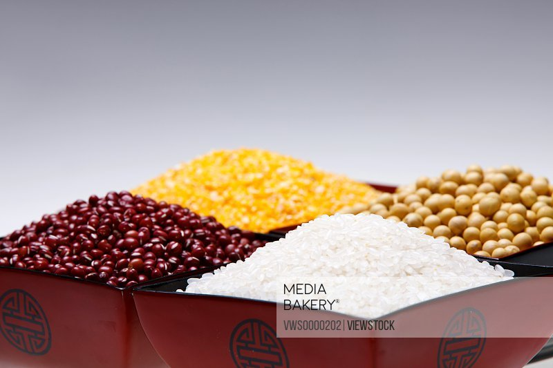 Rice,soybean,red bean and corn