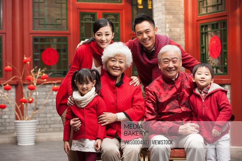 Oriental family New Year