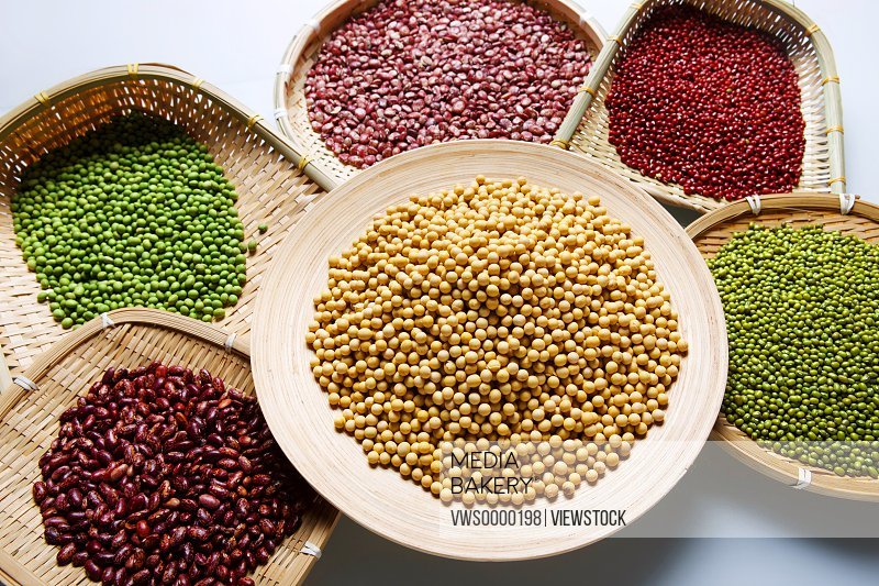 Red bean,mung bean,kidney bean and soybean