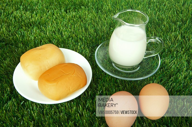 Bread eggs and milk