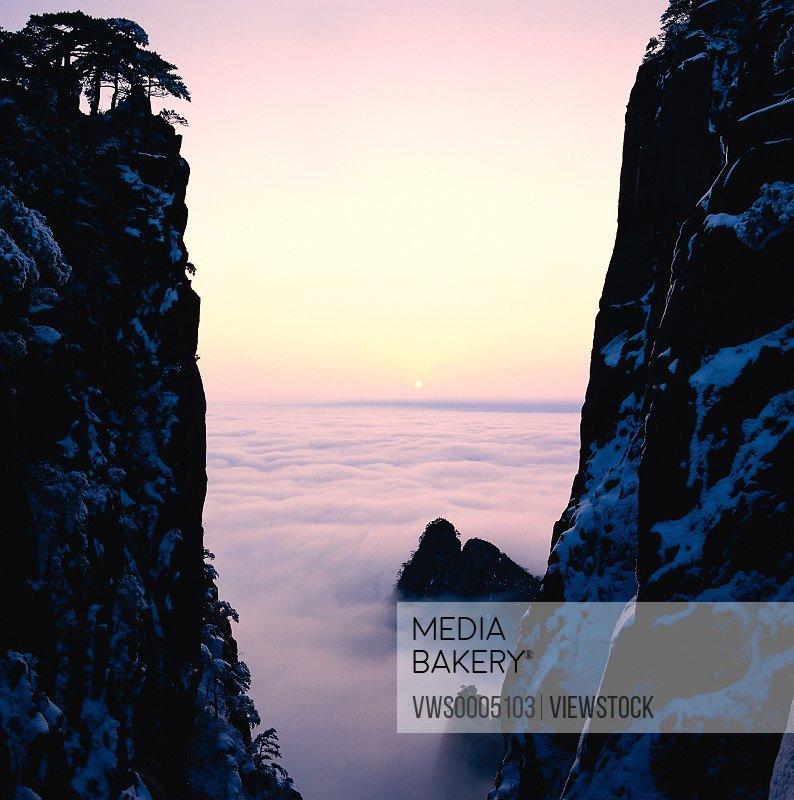 Landscape of Mt Huangshan China