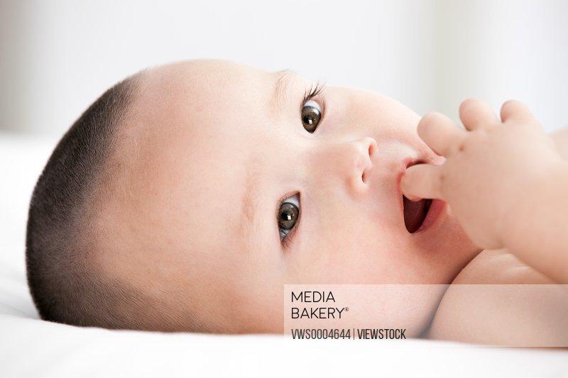 Infant closeup