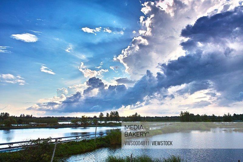 Shaobo Lake in Yangzhou City Jiangsu Province