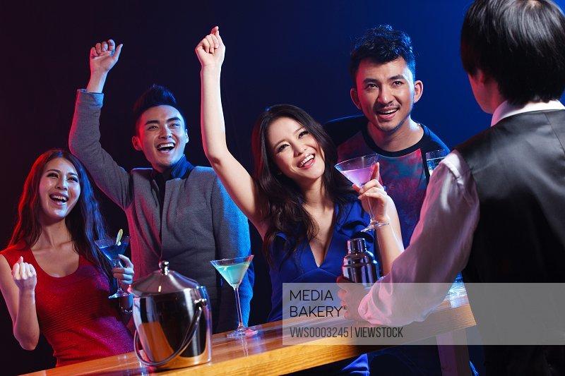 Young people at bar