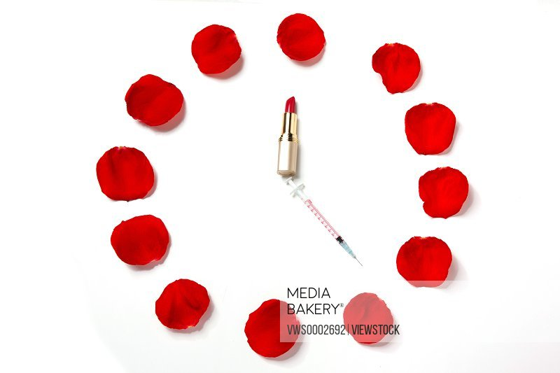 Lipstick and petal