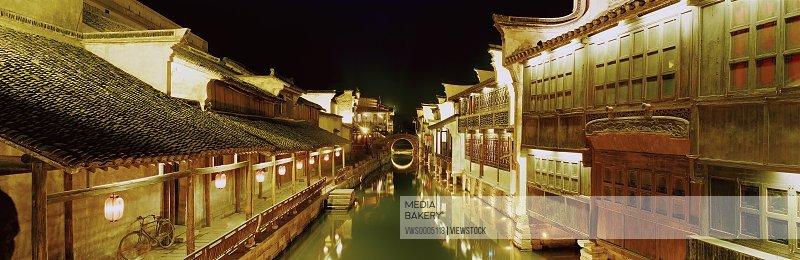 Wu town in Zhejiang province China