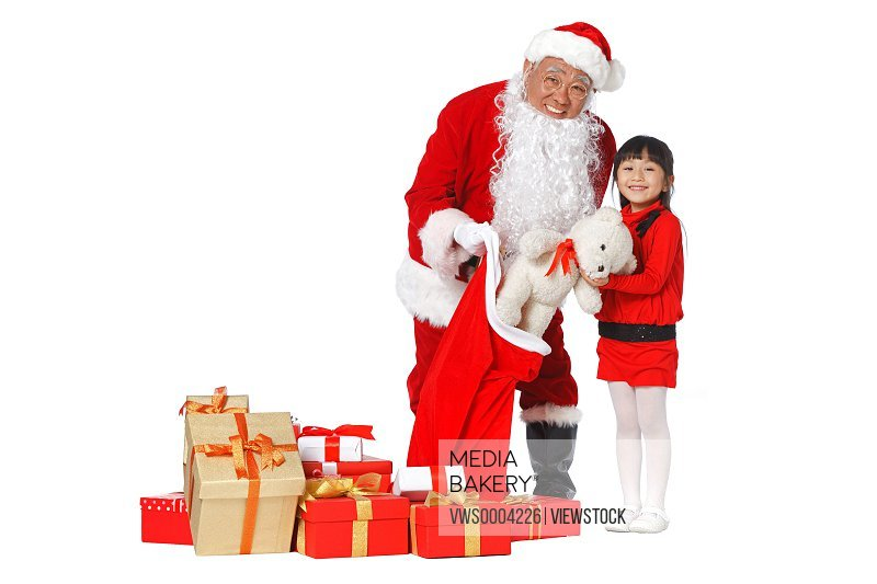 Santa Claus delivered gifts